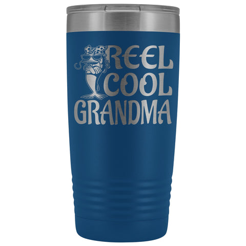 Reel Cool Grandma Fishing 20oz Tumbler blue