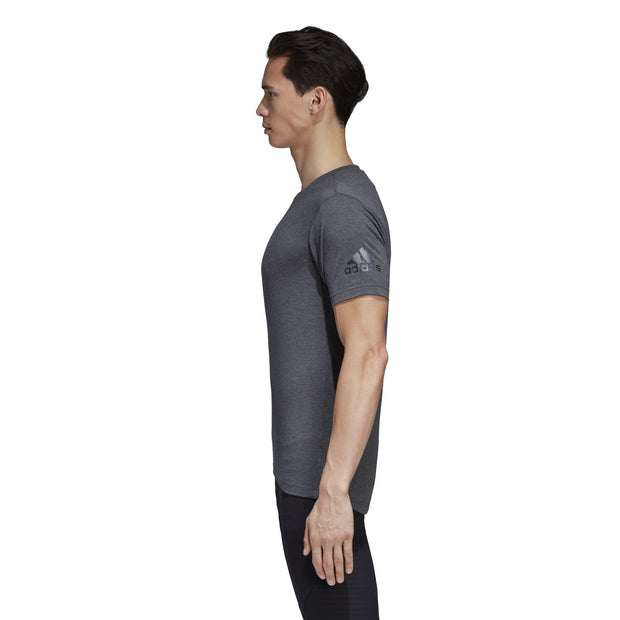ADIDAS MEN'S FREELIFT PRIME DARK HEATHER TEE - INSPORT