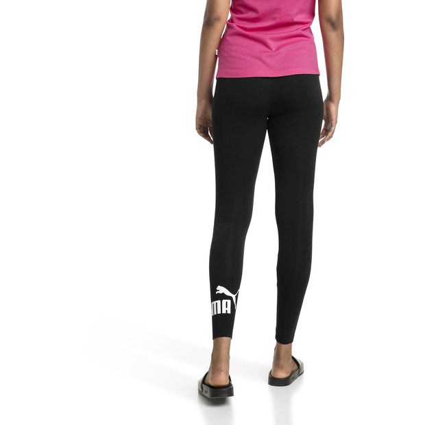 PUMA WOMEN'S ESSENTIALS LOGO BLACK LEGGINGS
