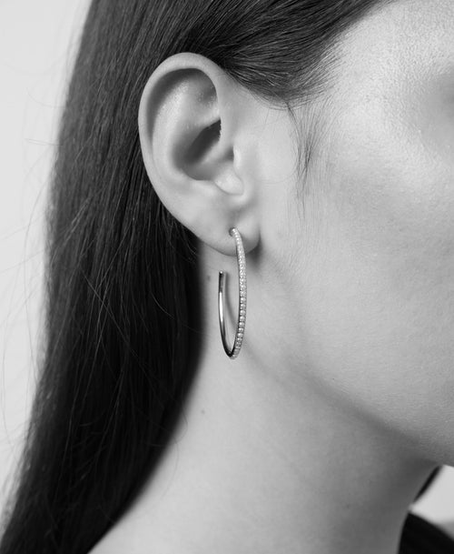 Seed Hoop Earrings Large