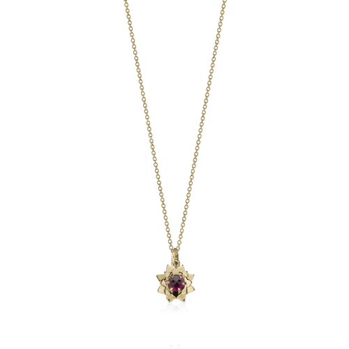 Protea Charm Necklace with Stone