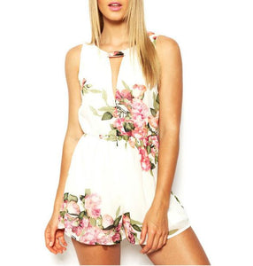 New Floral Sexy Sweet Shorts Playsuit
