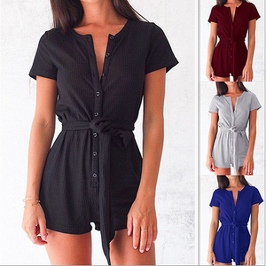 Button Overalls Playsuit