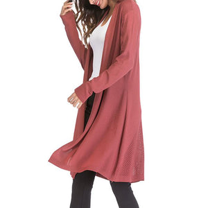 Hollow Out Long Sleeves Cardigan