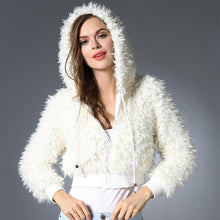 Stylish Lambswool Hooded Warm Short Coat