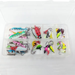 Basstrike Ice Fishing Gear Spoon and Jigheads Kit Box