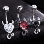 Devil Heart Belly Button Ring Bundle - Get 3 for 65% Off + Free Shipping - The Creative Booth