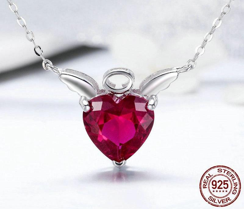 Red Angel Wings Necklace - 30% OFF + FREE SHIPPING