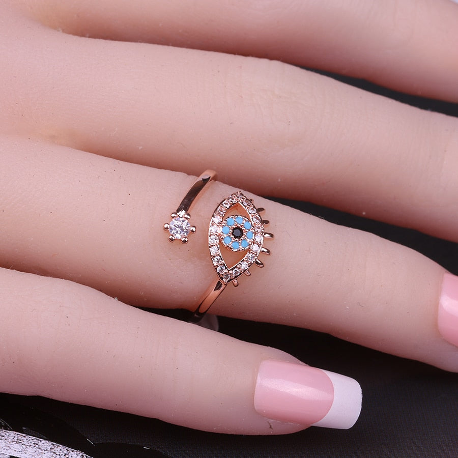 Crystal Evil Eye Ring Bundle - Get 3 for 65% Off + Free Shipping! - The Creative Booth