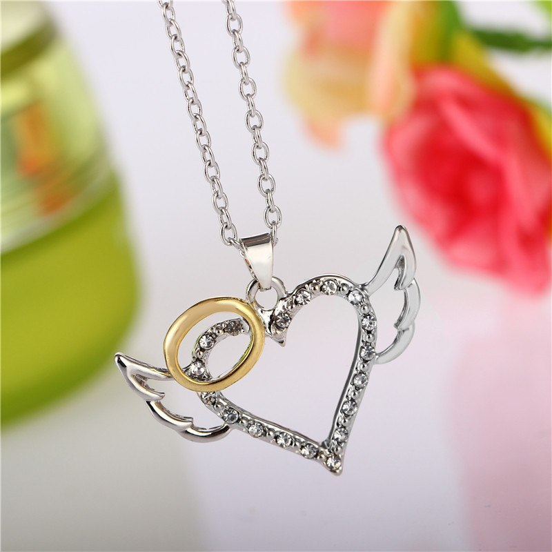 Silver Wings Heart Necklace Bundle - 3 at 65% Off + FREE Shipping!