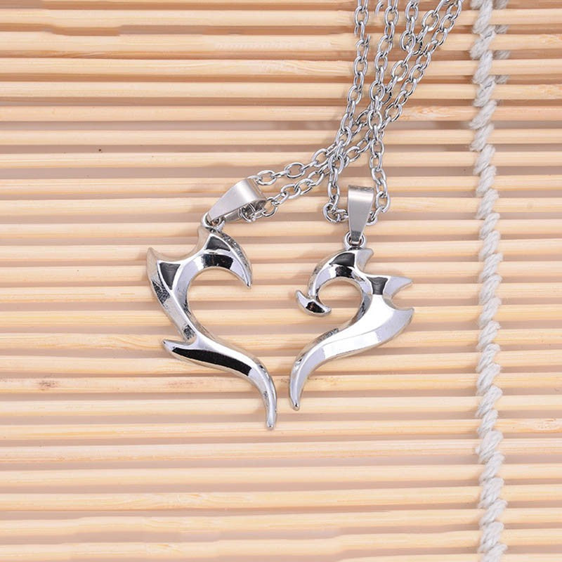 Stainless Steel Heart Pendant Couple Necklace
