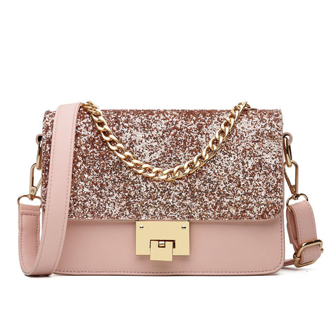 Pink Sparkling Messenger Bag