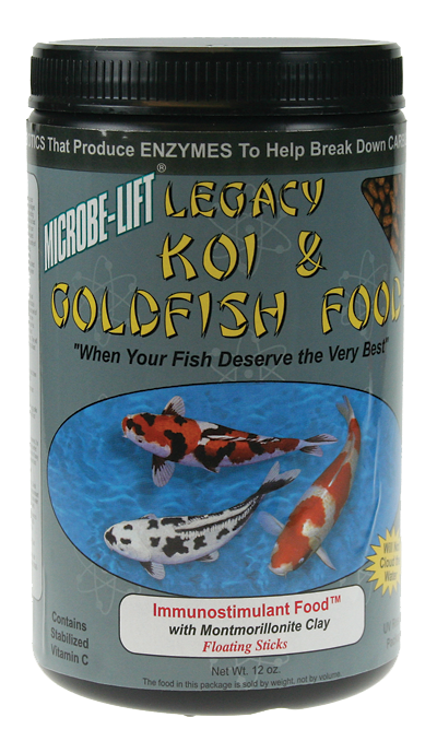 Microbe-Lift Legacy Koi and Goldfish Food - Immunostimulant 10 oz.