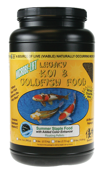 Microbe-Lift Legacy Koi and Goldfish Food - Summer Staple 2 lb.