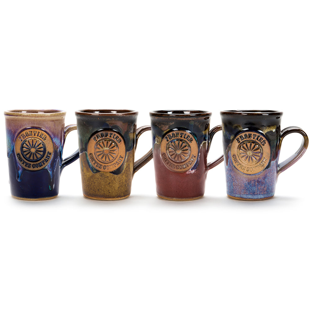 Frontier Coffee Mugs - Handmade 4-Pack