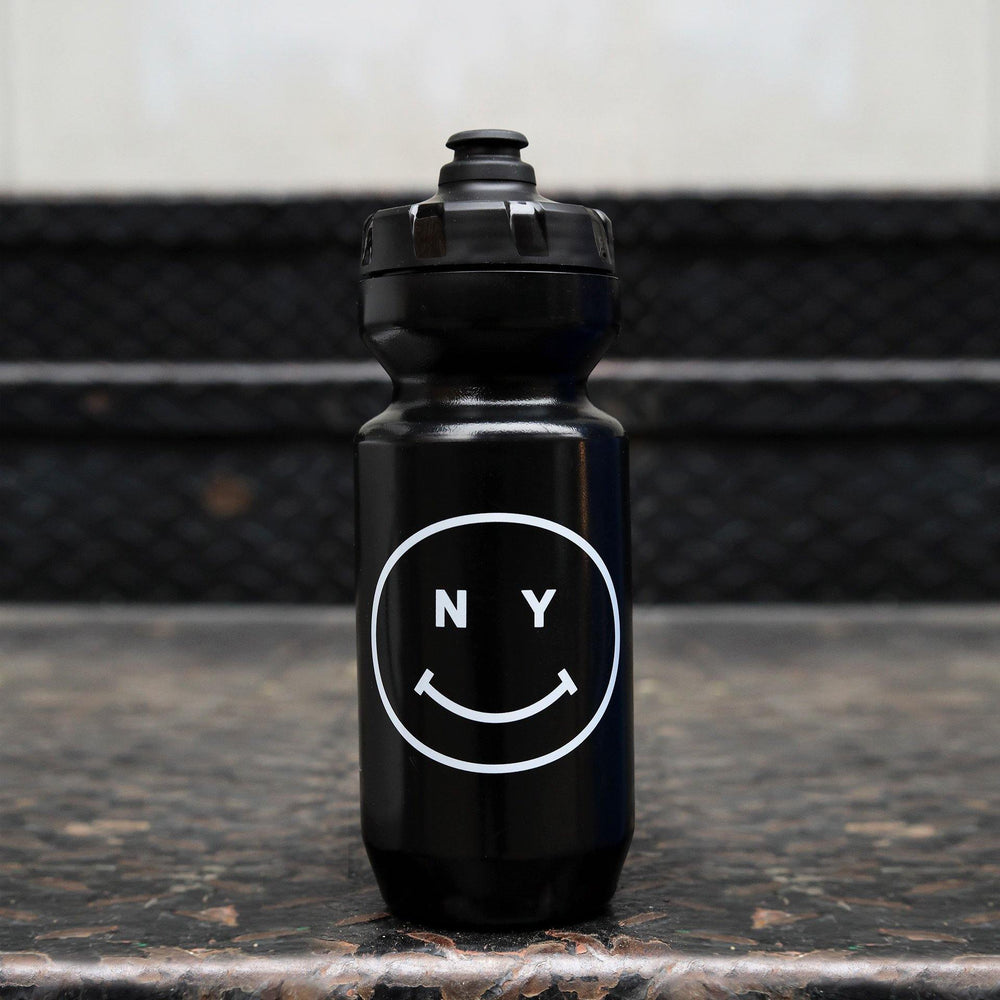 Giordana x Knowlita New York Smiley Black Water Bottle