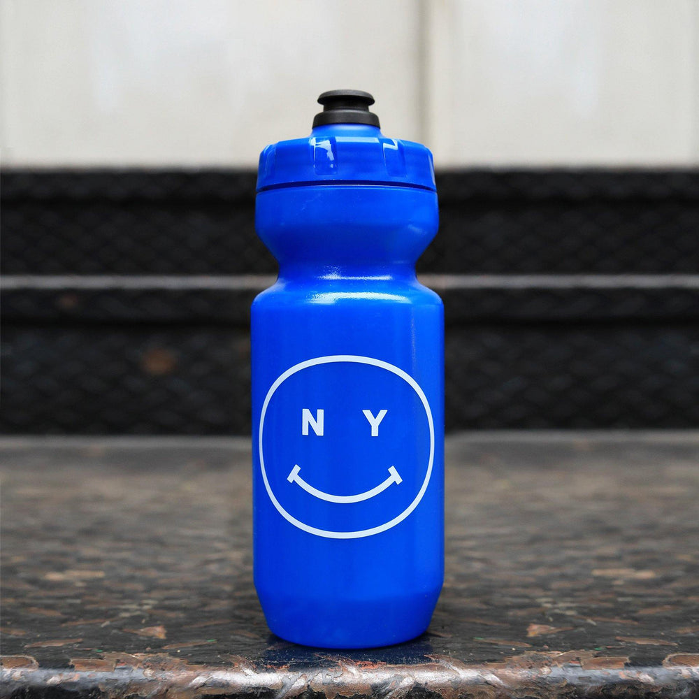 Giordana x Knowlita New York Smiley Blue Water Bottle