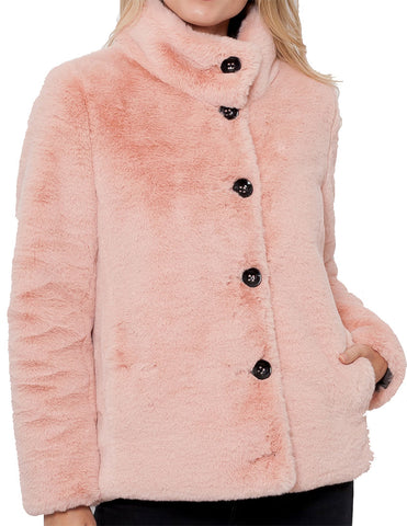 Rihanna Faux Fur Reversible Coat