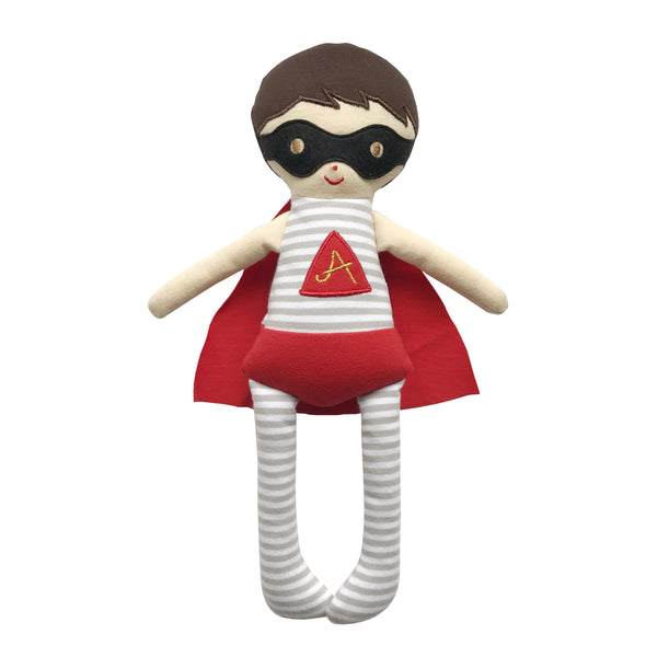 Alimrose super hero doll rattle 28cm