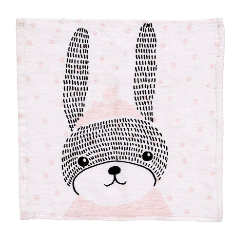 Bloomingville rabbit cotton washcloth
