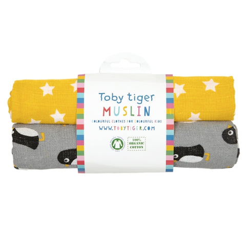 Toby Tiger penguin muslin pack