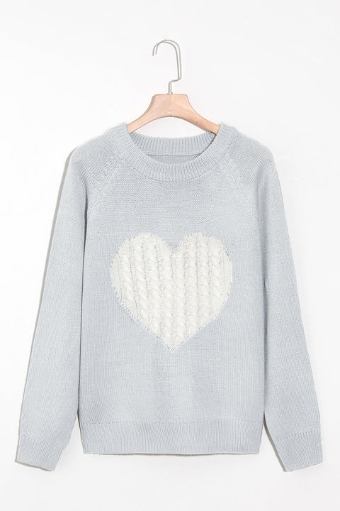 Lbduk Fashion Heart-shaped Knitting Sweater