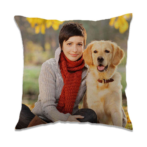 customized pet photo double sided velvet square pillow