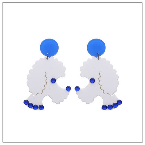 Women's poodle dog Earrings