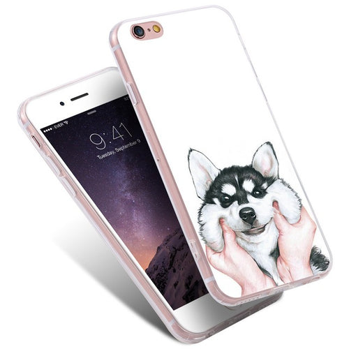 Cute Cartoon Dog Phone Case For iPhone 5S SE 6 6S 7 Plus