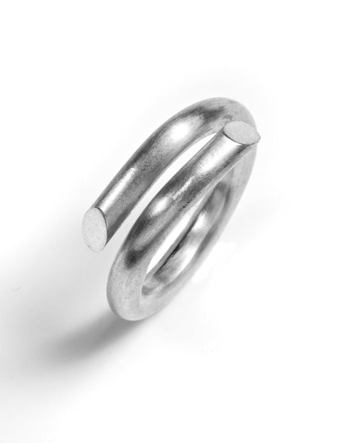 Sterling silver split washer ring handmade by Lindsey Snell.