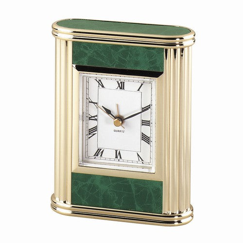 Personalized Free Engraving Marble Finish Desk Clock - GiftsEngraved