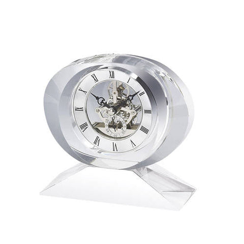 Personalized Free Engraving Crystal Desk Clock Wedding Housewarming Employee Executive Office Anniversary Birthday Retirement Corporate