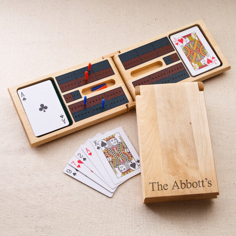 Personalized Wood Cribbage Game Free Engraving - GiftsEngraved
