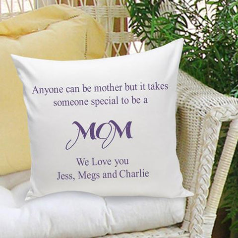Personalized Parent Mom Throw Pillow Free Engraving Message - GiftsEngraved