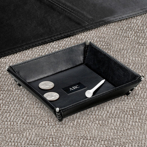 Personalized Leather Stash Tray Free Engraving - GiftsEngraved