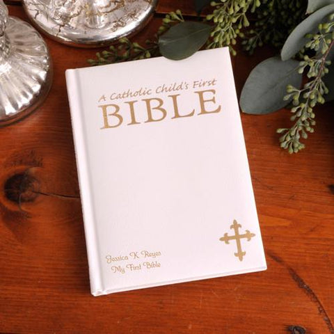 Small Catholic Children's First Bible Free Personalization - GiftsEngraved