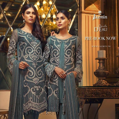 jazmine chiffon collection 2019 new arrival  - Replica - Unstitched
