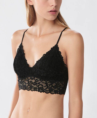 Skin Embroidered Sexy Lace Cotton Bra 618