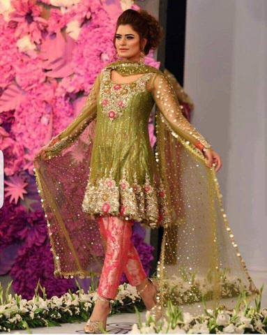 KASHEE'S BRIDAL CHIFFON SUIT (Replica) (Unstitched)