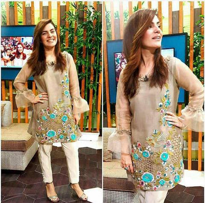 ROZINA MUNIB NET SUIT - Replica - Unstitched