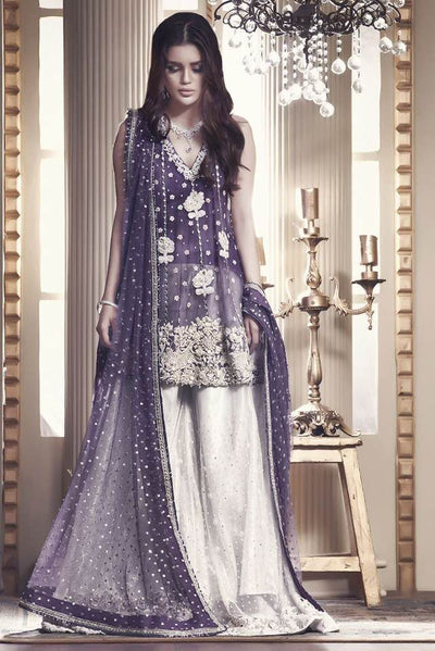 Ayesha Ibrahim Net Dresses - Embroidered Net Dupatta - Replica - Unstitched
