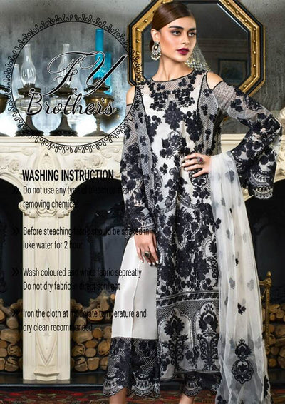 Honey Waqar Organza Dresses - Embroidered Net Dupatta - Replica - Unstitched