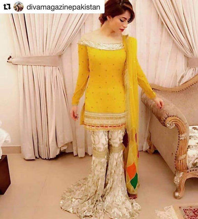 Rozina Munib Net Dresses - Embroidered Net Dupatta - Replica - Unstitched