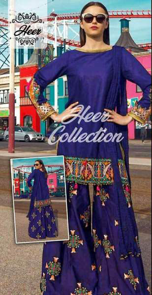 Bareeze Cotton Dresses - Embroidered Chiffon Dupatta - Replica - Unstitched