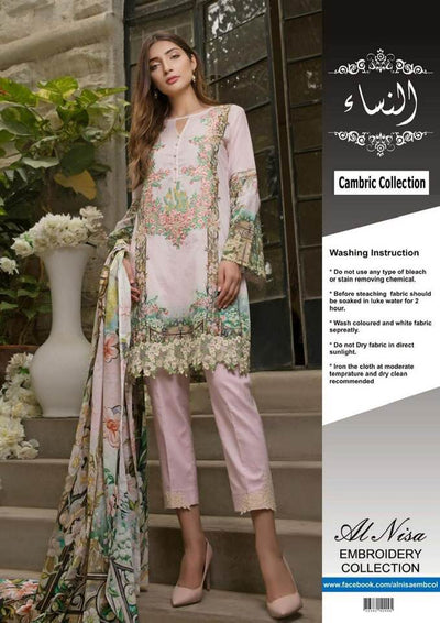 Firdous Cotton Dresses - Embroidered Lawn Dupatta - Replica - Unstitched