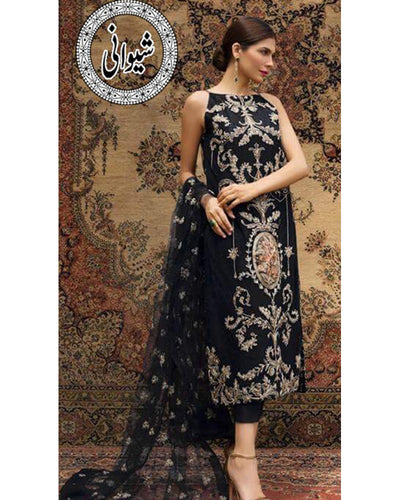 Bareeze Front Full Heavy Embroidered Lawn With Complete Chiffon Embroidered Dupatta (Replica)(Unstitched)