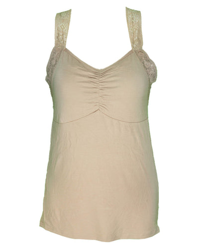 Ladies Camisole Padded With Lace - Color Skin - 3051
