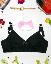 Basic Bra - Black - Cotton Bra - Non Padded Bra - Non Wired Bra