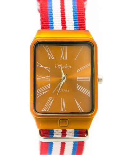 Stylish Country Flag Coloured Belt Watches For Men - Sehar Watch