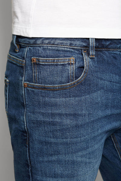 Next Blue Denim Slim Fit Jeans for Men - Branded Slim Fit Jeans - Men Jeans - diKHAWA Online Shopping in Pakistan